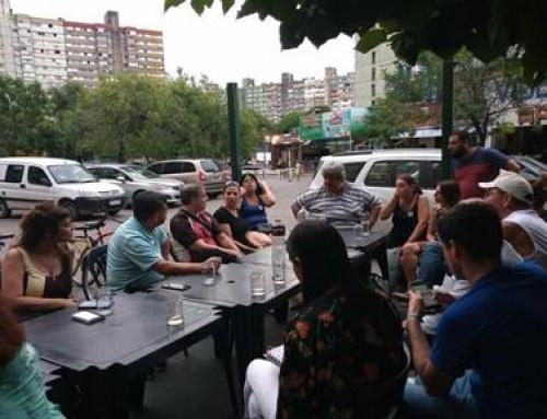 El presidente de la Junta Comunal se reunió con los vecinos de Lugano 1 y 2