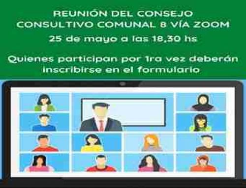 Nueva reunión del Consejo Consultivo Comunal 8