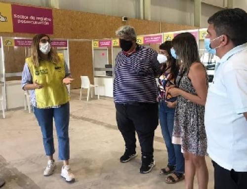 Los comuneros visitaron el Centro de vacunación Parque Roca